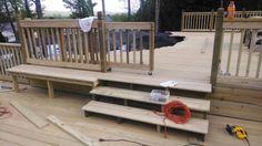 Sliding gate for deck