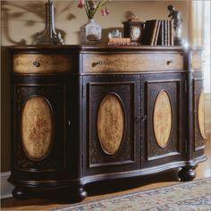 Hooker Furniture Decorator Four Drawer Shaped Credenza | Bakers Racks