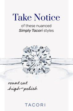 Take notice of these nuanced Simply Tacori styles! #Tacori #TacoriRing #engagementring #engagementringinspo Tacori Rings, Tacori Engagement Rings, Antique Engagement Rings, Pear Shaped Diamond, Vintage Fashion, Collection, Jewelry, Style, Swag