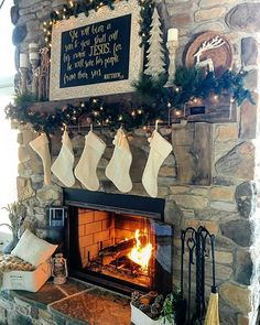 Christmas mantle Christmas Mantles, Lord, Instagram Posts, Painting, Painting Art, Paintings, Painted Canvas, Christmas Fireplace, Drawings
