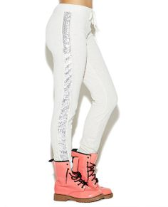 Side Sequin Jogger Pant   Wet Seal Active
