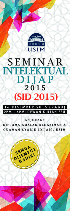 [2015, November] Bunting Seminar Intelektual DIJAP 2015