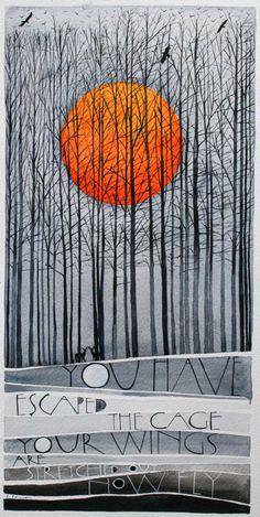 my latest works «Sam Cannon Art - ART Watercolor Painting Landscape Quilts, Landscape Art, Zantangle Art, Sam Cannon, Drawn Art, Art Et Illustration, Art Design, Tree Art, Doodle Art