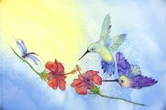 in my dreams - watercolor from Duckie & the Grackle (etsy)