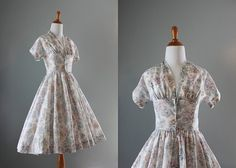 50s Party Dress / Vintage 50s Dress / 1950s Sheer by HolliePoint, $108.00