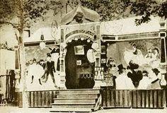 roulotte de la Goulue / décors de Toulouse-Lautrec