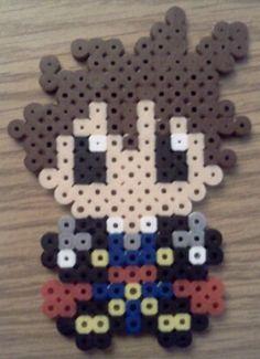 Sora Kingdom Hearts Perler Bead  ---- *jaw drops* I could make this! I have TONS of perler beads! :D :D :D