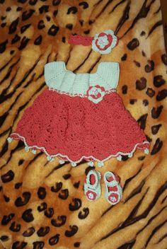 crochet, arts, baby girl, dress, szydełkowanie,