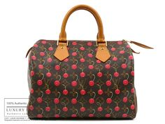 LOUIS VUITTON - Authentic Louis Vuitton Cherry Speedy Bag 25