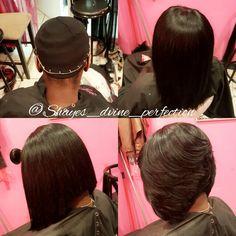 "Pronto Quick Weave Layers Bob   IG: Shayes_dvine_perfection FB: Shayes D'vine Perfection Www.styleseat.com/shalandawilliams2 ""Come Get Shayed & Slayed"""