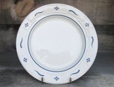 Longaberger-Pottery-Woven-Traditions-Classic-Blue-7-25-Bread-Dessert-Plate-Dish $9.99 Ebay - I have 12 bread plates.