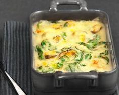 Gratin de moules aux épinards léger : http://www.fourchette-et-bikini.fr/recettes/recettes-minceur/gratin-de-moules-aux-epinards-leger.html
