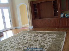 (BrandonRugs.com) The order of the addends DOES affect the sum. Our customer, building a new home in Washington Crossing, PA, picked the rug for her family room long before the builders were finished in the room. A hand-knotted silk and wool Indian Agra rug awaits move-in day.