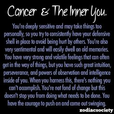 Cancer and the inner you.
