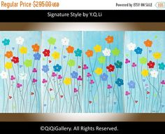 Flowers painting oil painting wall decor wall art by QiQiGallery