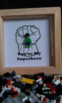 Handmade Brick Figure Art. The Hulk 'You're my by DanMakesWithLove