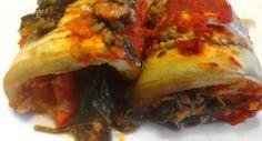 Quinoával töltött padlizsán tekercs recept Cheesesteak, Eggplant, Lasagna, Quinoa, Cooking Recipes, Meat, Chicken, Breakfast, Ethnic Recipes