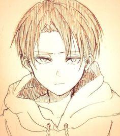 Attack on Titan / Shingeki no kyojin : Levi Ackerman Anime Wolf, Manga Anime, Titans Anime, Anime Naruto, Armin, Eren E Levi, Attack On Titan Levi, Anime Drawings Sketches, Anime Sketch