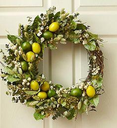 Citrus Delight Wreath | Home Decorating | 1800FLOWERS.COM-97857