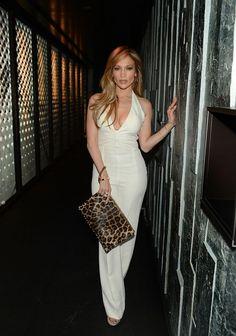 Jennifer Lopez Style - Jennifer Lopez Fashion Pictures Jennifer Lopez Birthday, Birthday In Las Vegas, 28th Birthday, Birthday Celebration, Sparkly Jumpsuit, White Jumpsuit, Jumpsuit Style, Glamorous Outfits, Lookbook