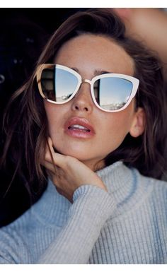 Oversized cat eye sunglasses. Super Girl Sunglasses Gold/Mirror by Quay, Australia -  $59.95 AUD