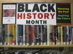 Westwood Library Black History Month book display made with my Cricut - KC
