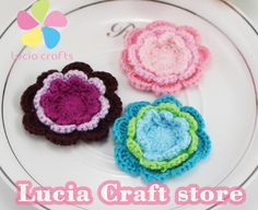 SALE 2pcs/lot 4.5cm Sew-on Handmade Knitted Flower Crochet Weaving Flower DIY Headwear & Sewing 20010100(4.5D2)