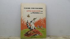 Little Raccoon and No Trouble at All, 1972, Lilian Moore, Gioia Fiammenghi, vintage kids book by RandomGoodsBookRoom on Etsy