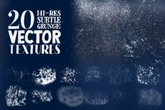 Hi-Res Subtle Grunge Vector Textures by seanwes on @creativemarket