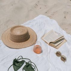 aesthetic Palma Boater Handmade by artisans in Mexico, our new baked palm leaf hats are perfect for the Summer soiree of your choice. Featuring a boater crown and tightly woven p Summer Vibes, Summer Feeling, Summer Days, Summer Story, Summer Sun, Beach Aesthetic, Summer Aesthetic, Boater, Beach Blanket