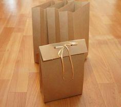 Пакет из крафт-бумаги без выкройки.