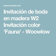 Invitación de boda en madera W2 Invitación color 'Fauna' - Woowlow