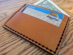 Genuine Leather Goatskin, Tan - 5 Pocket Wallet - Handmade in USA | HeirloomLeather - Accessories on ArtFire
