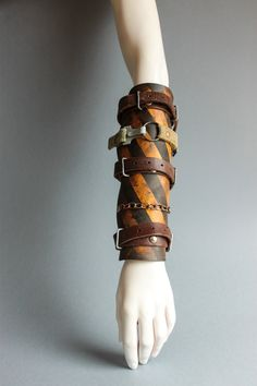 Post Apocalyptic Leather Bracer - Fallout Armor - Gladiator Bracer - Mad Max Armour