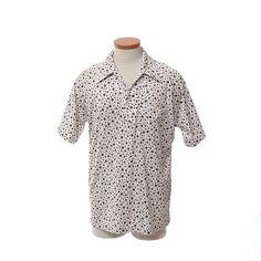 Vintage 70s Mod Bubble Dots Disco Shirt 1970s by CkshopperVintage