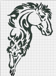 Horse mane morphing into wolf Cross Stitch Horse, Cross Stitch Animals, Cross Stitch Charts, Cross Stitch Designs, Cross Stitch Patterns, Cross Stitching, Cross Stitch Embroidery, Embroidery Patterns, Perler Patterns