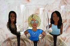 Bridal shower party , Bachelorette party , Bridesmaid gifts , Bridal shower gift, Wedding party gifts , Bridesmaid Portraits Bridesmaid Glasses, Bridesmaid Gifts, Our Wedding, Dream Wedding, Gift Wedding, Wedding Stuff, Bride Sister, Hand Painted Wine Glasses, Bridal Shower Party