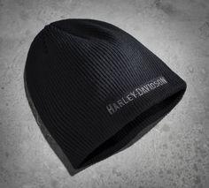 Goes with anything in any weather. | Harley-Davidson Men's Embroidered Knit Hat