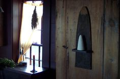 Old Tanner Board Shelf w/Sugar cone. Blacktavernprimitives