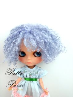 Gorgeous Angora Mohair in Blue special curly reroot by PattyParis, $229.00