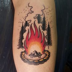 Campfire tattoo by me, Harry Catsis , Denver CO - Imgur