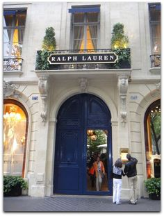 Ralph Lauren's Store in ♔ Paris ♔