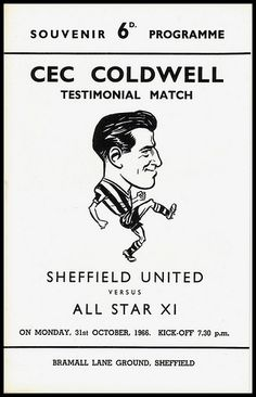Cec Coldwell was a right back for 15 seasons from 1951 to 1966 and captained the side to promotion from the 2nd Division in 1960/61. After playing over 600 games he moved onto the backroom staff at the Lane, coaching the 1970/71 promotion team and even had 2 stints as caretaker manager in the mid-70's.