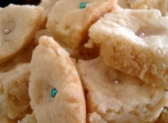 from pinner: My mom's AMAZING Scottish shortbread. I'm making it at this very moment.