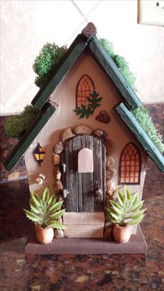 1000 ideas about painted birdhouses on pinterest for Unpainted fairy doors