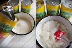 Angel's food: Prajitura cuburi cu branza, ananas si nuca de cocos Grains, Food, Essen, Meals, Seeds, Yemek, Eten, Korn