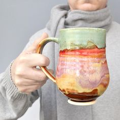 ceramic mug Beer Stein coffee cup tea mug for him Autumn Song series Pottery Mugs, Ceramic Pottery, Pottery Barn, Ceramic Cups, Ceramic Art, Pottery Classes, Pottery Wheel, Clay Creations, Tea Mugs
