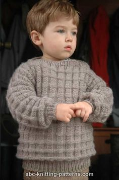 Little Boy's Cuff-to-Cuff Sweater (Free)