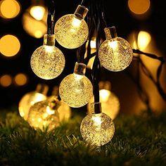 LE 10M Guirlande Lumineuses Boules LED 100 Boules Colorées 8 Modes