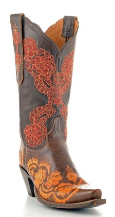 Womens Lucchese Classics Monika Tooled Boots Brown #Gb9647